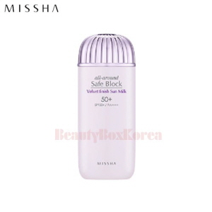 MISSHA All Around Safe Block Velvet Finish Sun Milk SPF50+ PA++++ 70ml [New]
